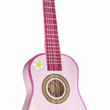 Speelgoed gitaar roze